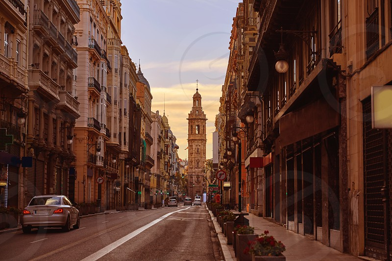 Calle de la Paz street of Valencia in Spain photo
