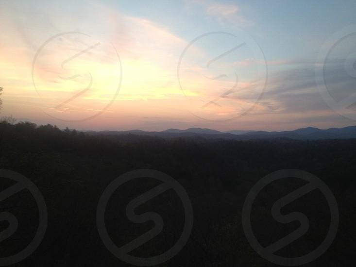 Mountain sunset blue ridge North Carolina sky  photo