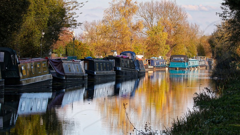 Barges on the canal photo