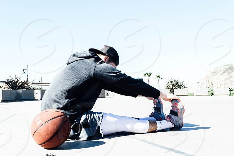 basketball fitness beach palm palm trees workout  photo