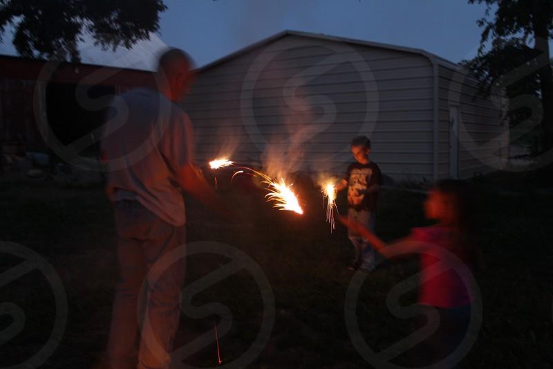 Sparklers make the night! photo
