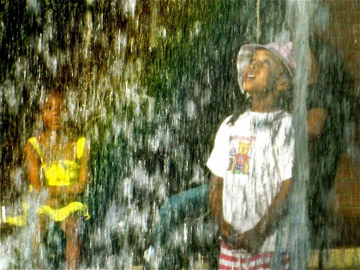 Kids enjoying water show  photo