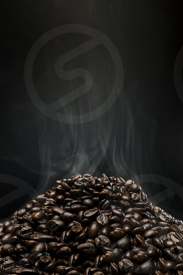 black coffee beans photo