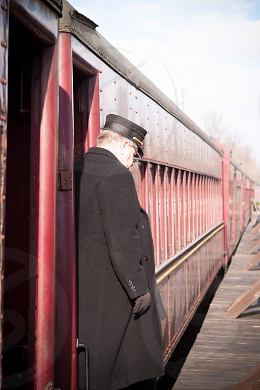 conductor train photo