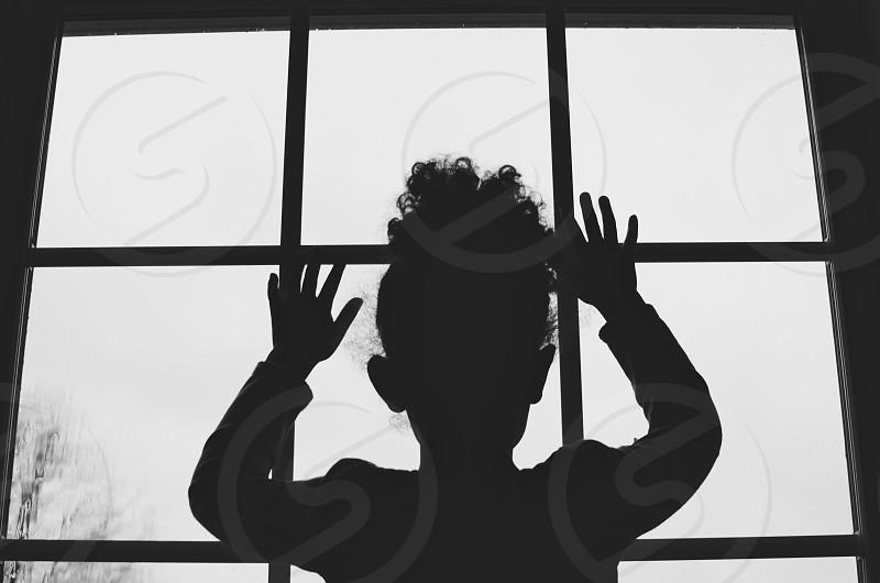 Childhood black and white photo