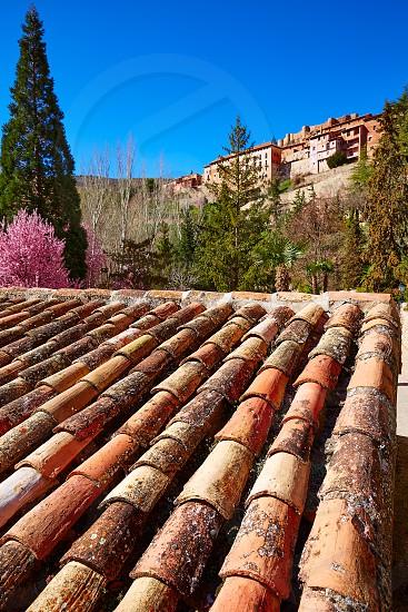 Albarracin medieval town village at Teruel Spain photo