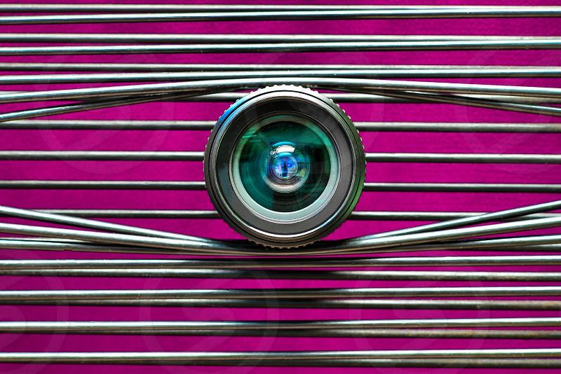 One eye lens photo