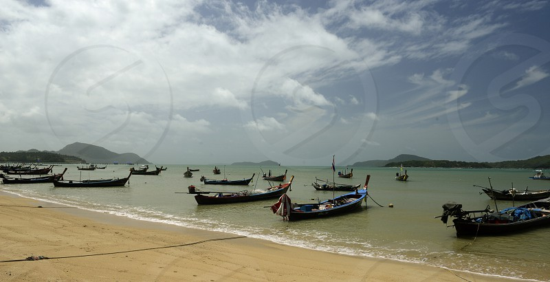 the Rawai Beach in the south on the Phuket Island in the south of Thailand in Southeastasia. photo