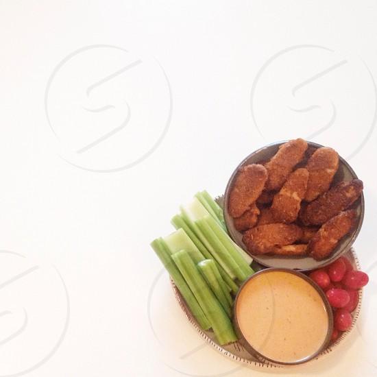 celery on plate photo