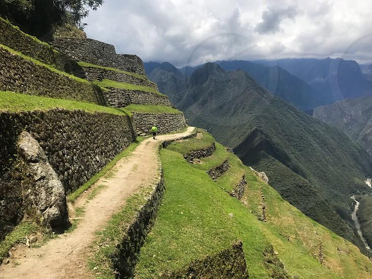 Intipata ruins Peru explore adventure travel South America hike Inca trail  photo