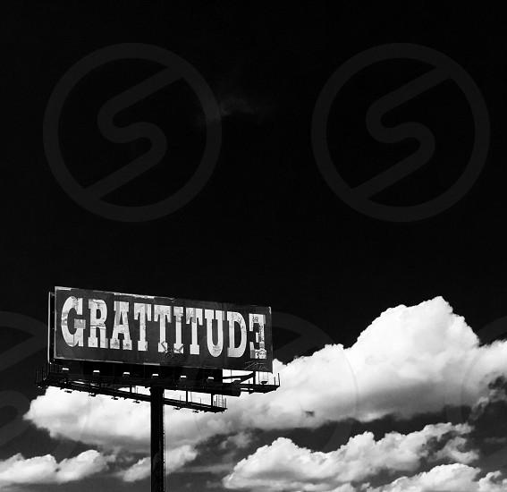 Billboard black and white Message photo