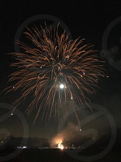 Fireworks bonfire night photo