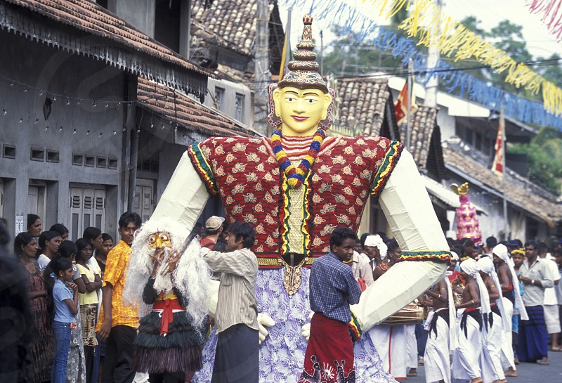 a traditional Festival in December in the town of Dalawella at the westcoast of Sri Lanka in Asien. photo