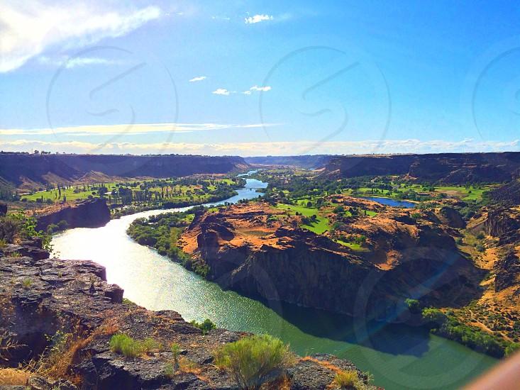 Snake River in Twin Falls ID. photo