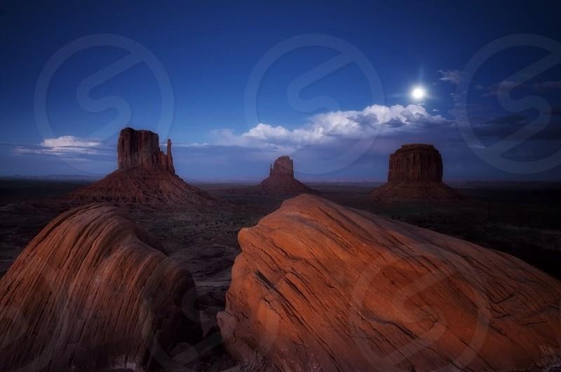 Moonrise over Monument Valley Utah  photo