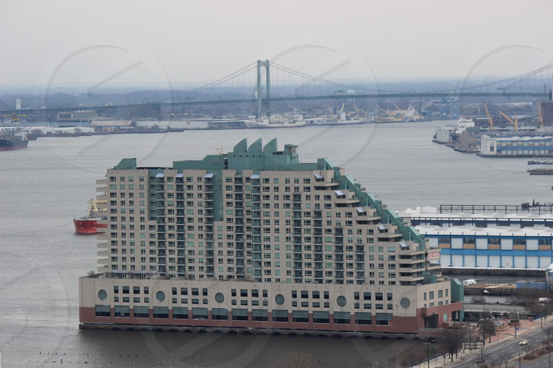 Waterfront high-rise in Philadelphia PA photo