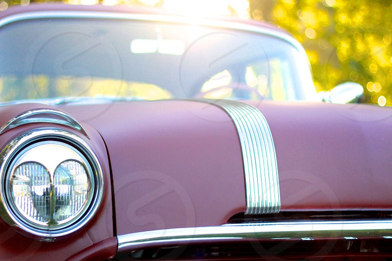 red classic car macro photography photo