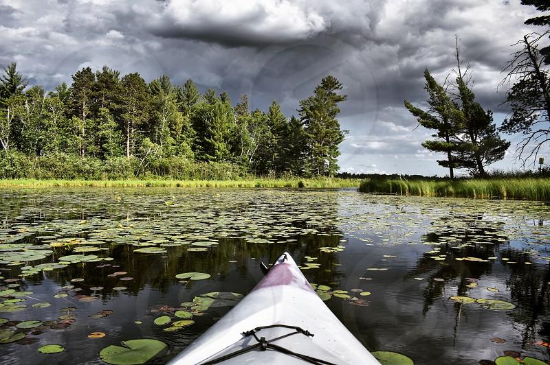 Kayaking in the lake photo
