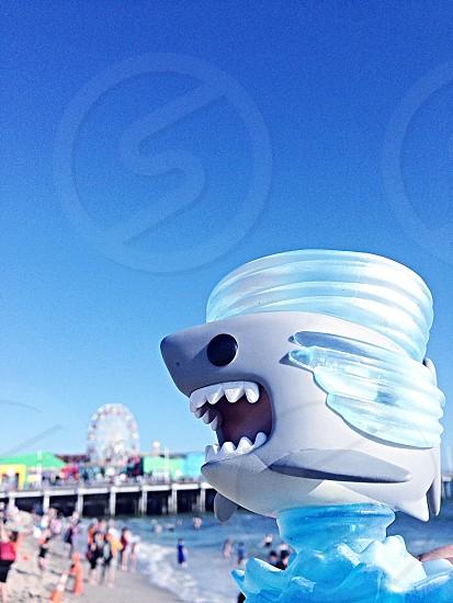 Sharknado funkopop at Santa Monica beach photo