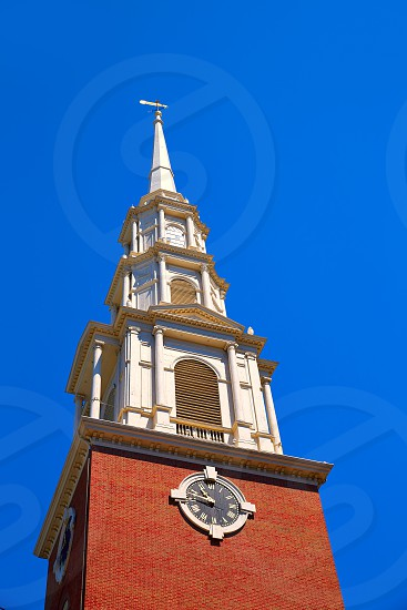 Boston Park Street Church in Massachusetts USA photo