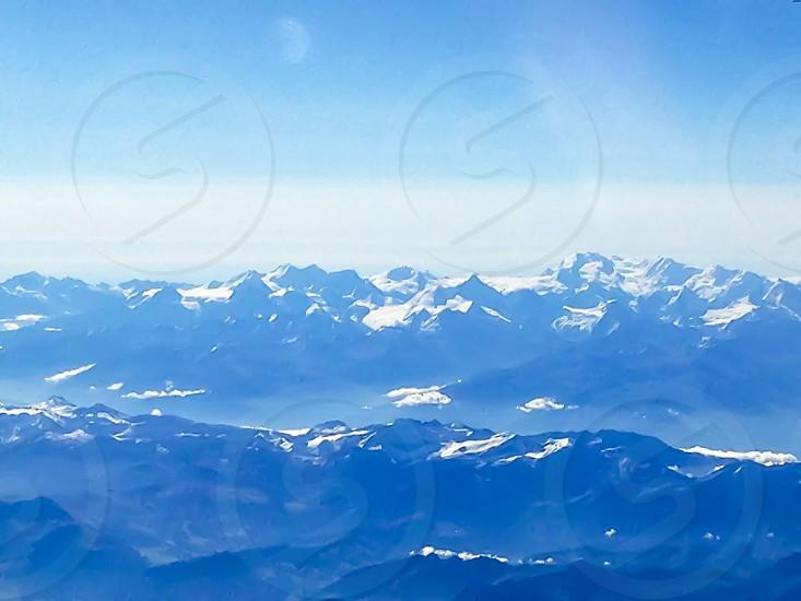 blue mountain view photo