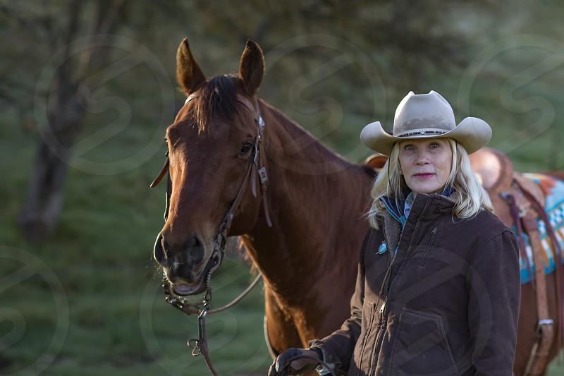 Beautiful 60 year old cowgirl photo