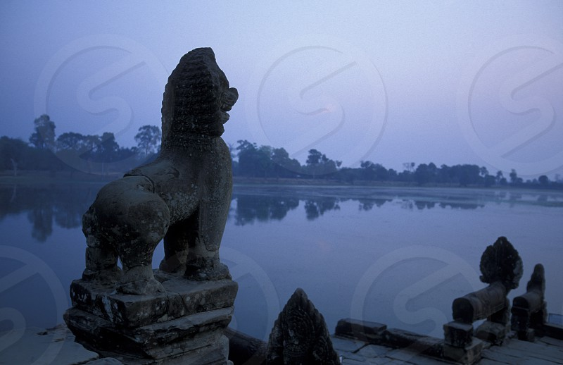the landscape at the Prei Prasat temple in Angkor at the town of siem riep in cambodia in southeastasia.  photo