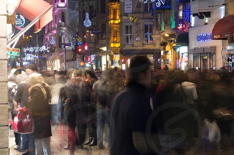 Night time at Taksim Istanbul photo