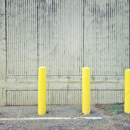 """""""Three Yellow Posts"""" photo"""