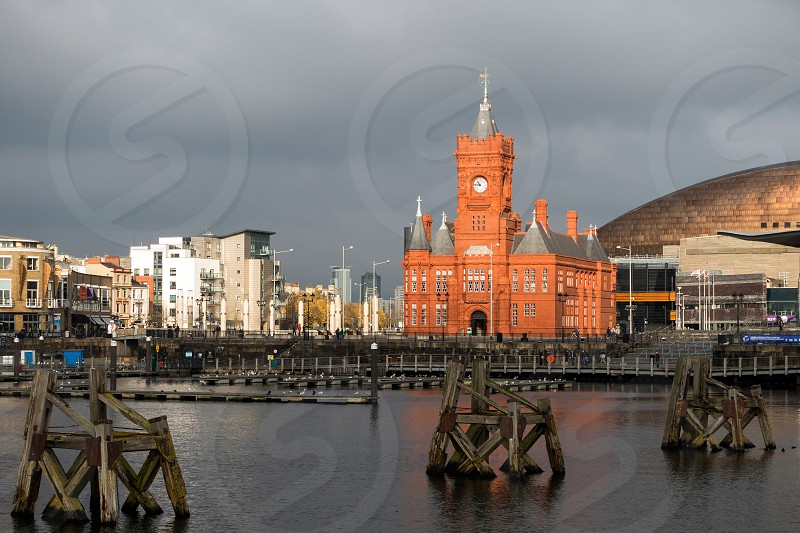 Pierhead and Millenium Centre buildings Cardiff Bay photo