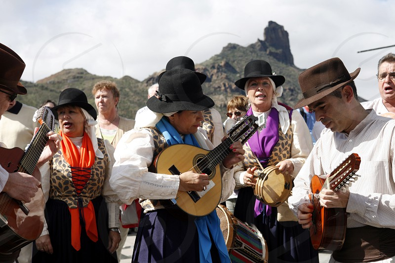 EUROPE SPAIN CANARY ISLANDS GRAN CANARIA TEJEDA MUSIC FESTIVAL TRADITION CULTURE photo