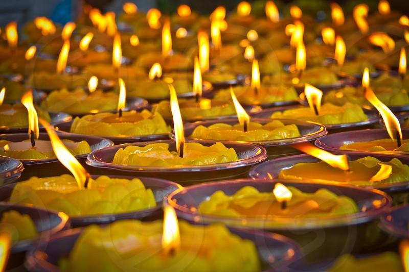 Candles Prayer China photo