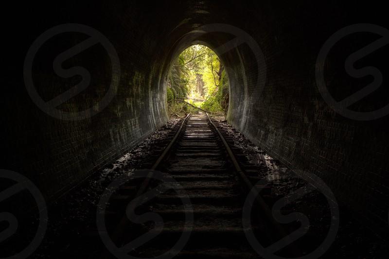 A Hidden abandon train tunnel. New South Wales. Australia. photo