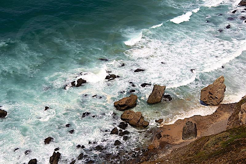 It's a long way down. Cabo da Roca Portugal photo