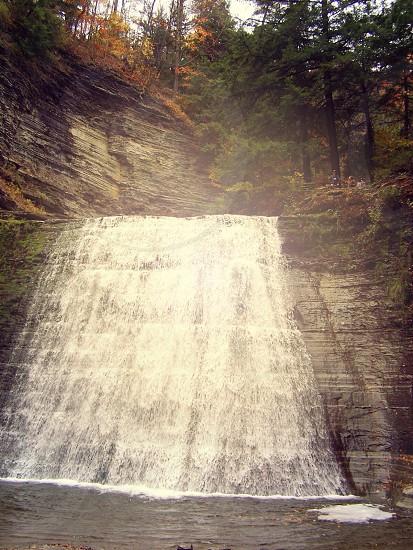 waterfall view photo