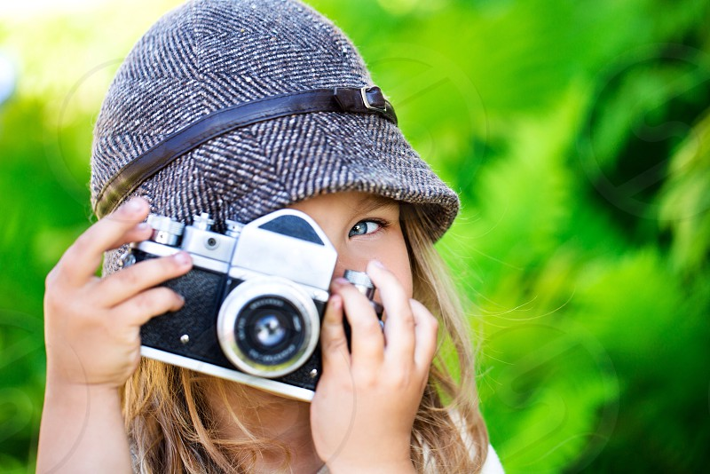 Cute little photographer girl baby sweet photo camera angel cute #girl #photographer #camera #work #kid #photo  photo