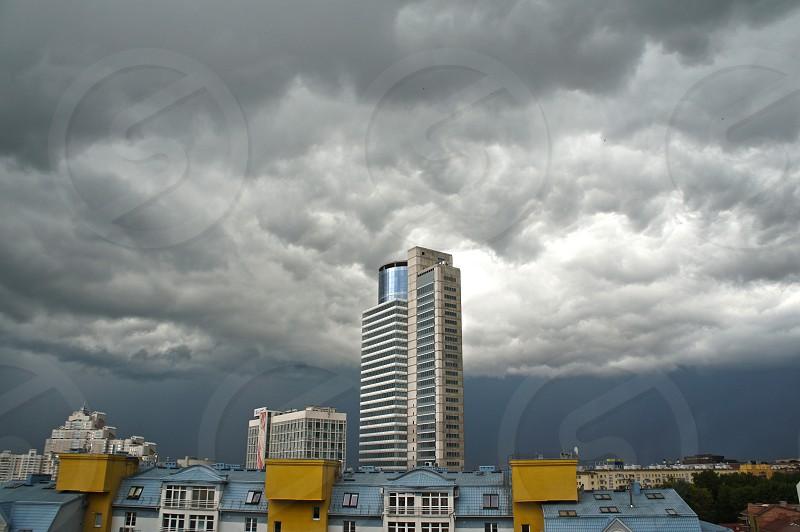 Sky before thunderstorm photo