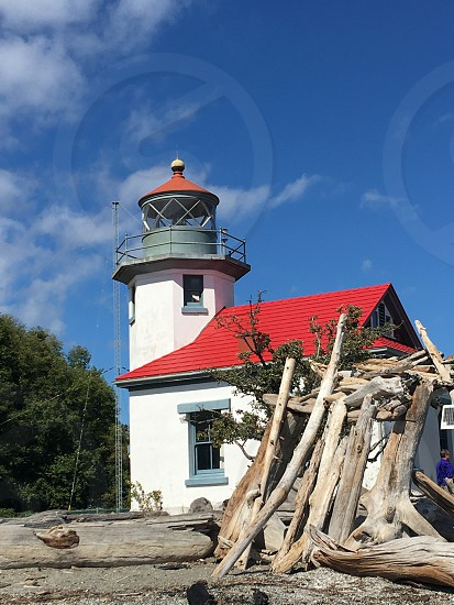 Your Best Shot Lighthouse and Driftwood Puget Sound Lighthouse Lifestyle Photography  photo