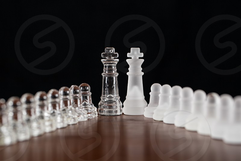 glass chess pieces photo