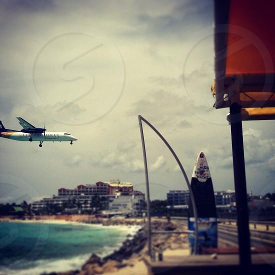 At Maarten airport landing  photo