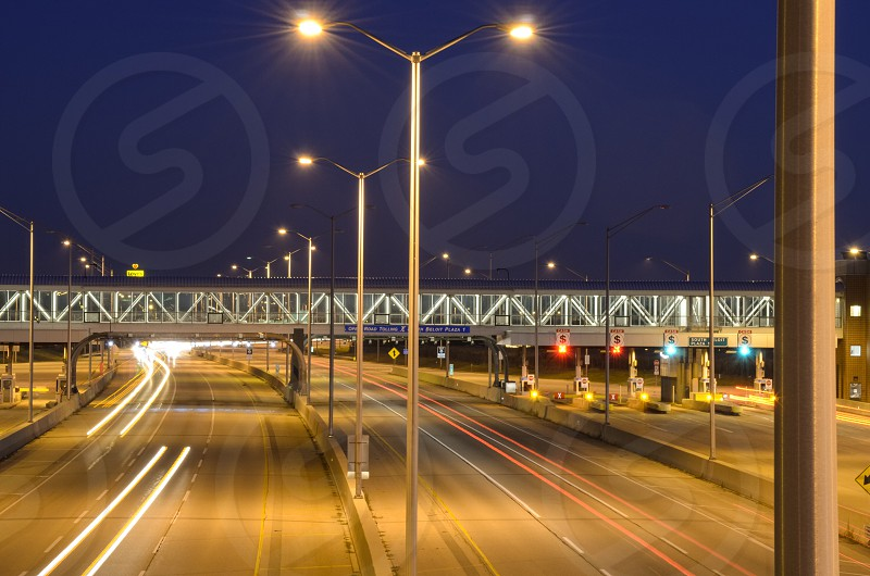 ^ welcome to Illinois ^ light trails interstate high resolution night  photo