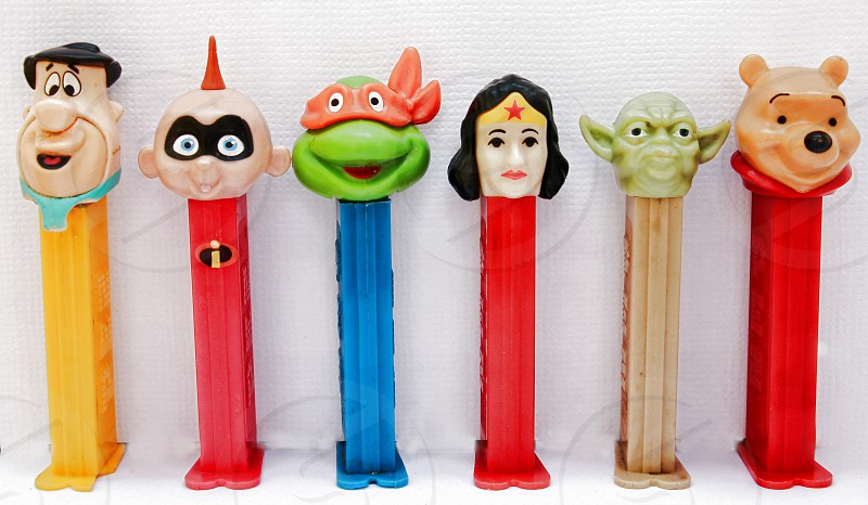 Collection of Pez dispensers photo