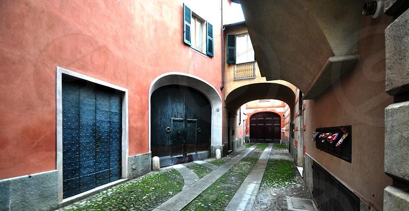 three garage doors in one shot photo