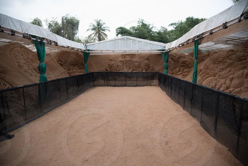 Mysuru sand sculpture museum. Release obtained photo