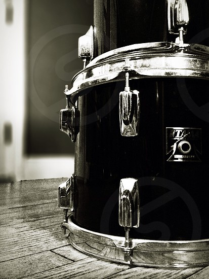 silver and black drums  photo
