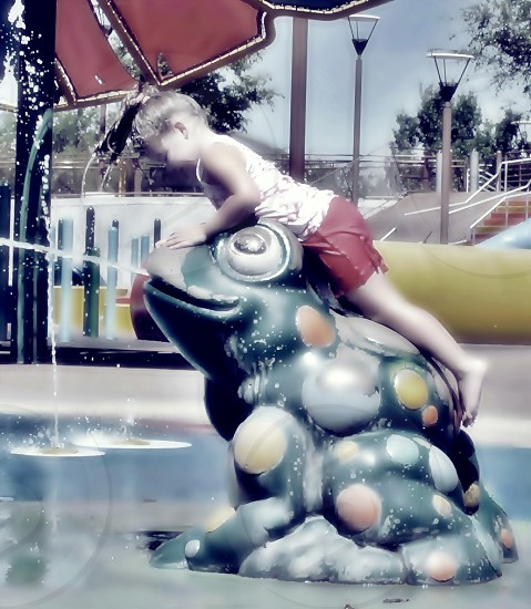 Childhood memories of summer at the water park. photo