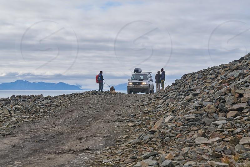 Trip; adventure; artic; Svalbard; car; dog; Nordic;  photo