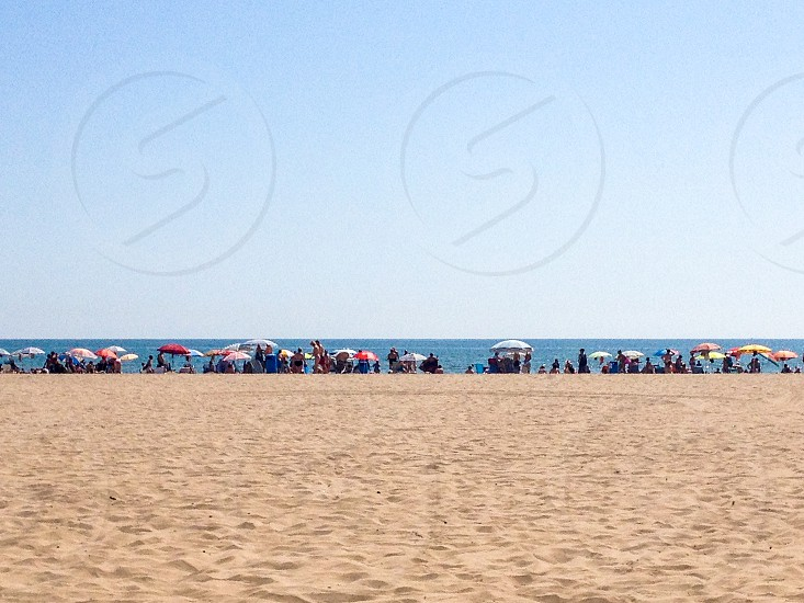 Playa de Malvarrosa  Valencia Spain sandy beach community vacation summer photo