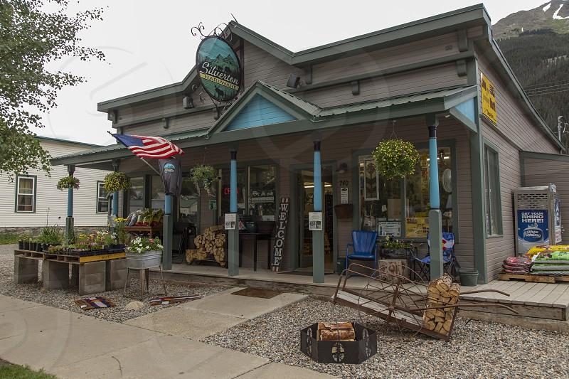 Hardware store front in Silverton Colorado photo
