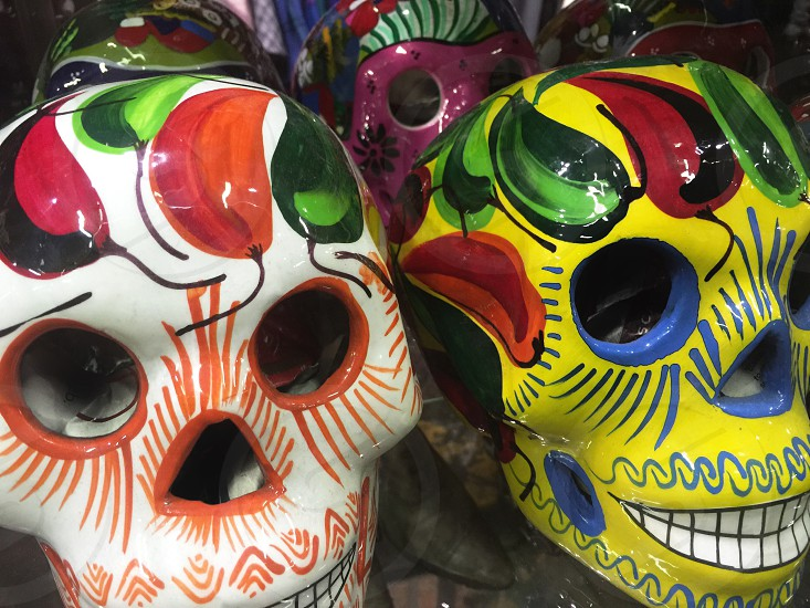 assorted-color skull candy masks photo
